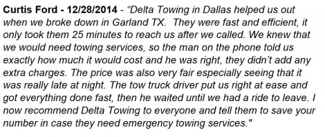emergency towing services garland tx